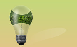 Light bulb with text  go green Stock Images