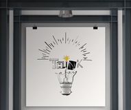 Light bulb and THINK word design Stock Photos