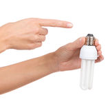 Light bulb thread Royalty Free Stock Images
