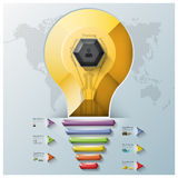 Light Bulb Three Dimension Polygon And Triangle Hexagon Business Stock Photography