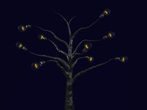 Light bulb tree Royalty Free Stock Photography