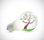Light bulb and tree illustration design Royalty Free Stock Images