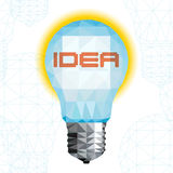 Light bulb triangular pattern style vector Royalty Free Stock Image