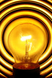 Light bulb turned on Stock Image