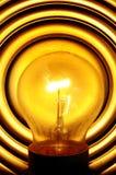 Light bulb turned on Stock Image