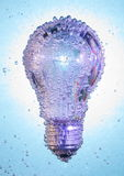 Light bulb under water Royalty Free Stock Photography