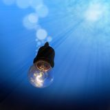 Light Bulb Underwater Royalty Free Stock Photo