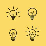 Light bulb vector icon Stock Image