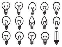 Light Bulb Vector Icon Set Royalty Free Stock Image