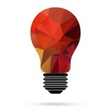 Light bulb vector icon Stock Photography