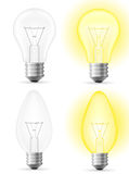 Light bulb vector illustration Stock Photography