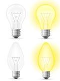 Light bulb vector illustration Stock Photography