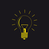 Light bulb. Vector illustration on a black background Royalty Free Stock Photography