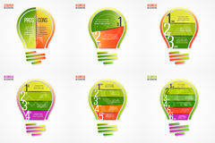 Light bulb vector infographic set of templates Royalty Free Stock Photo