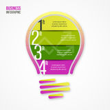 Light bulb vector infographic template for graphs, charts, diagrams and other infographics. Eco green style illustration. Business idea concept stock illustration