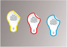 Light bulb vector labels. Modern template with space for your co Stock Images