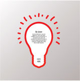 Light bulb vector labels. Modern template with space for your co. Ntent. Clever idea, concept. Website element, stylized bulb. Three solutions, offer or options Royalty Free Stock Images