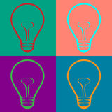 Light Bulb  in Warhol style. Vector EPS10 Stock Image