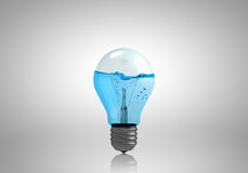 Light bulb with water Stock Image