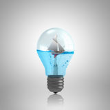 Light bulb with water Royalty Free Stock Photography