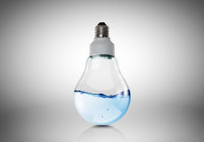 Light bulb with water Royalty Free Stock Image