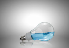 Light bulb with water Stock Photos