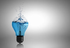 Light bulb with water Stock Photo