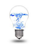 Light bulb with water inside Stock Photos