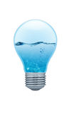 Light bulb with water inside Royalty Free Stock Photography