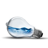 Light bulb with water wave Stock Photo
