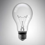Light Bulb on White. 3d render of a light bulb on white royalty free illustration