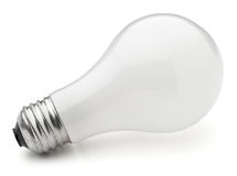 Light Bulb. On white Royalty Free Stock Photo