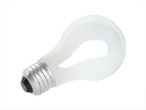 Light bulb on white. Background. This image also contains a clipping path Royalty Free Stock Photography
