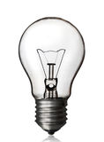 Light bulb, white backgroun. Royalty Free Stock Photos