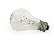 Light bulb on white background Stock Photography