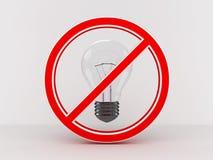 Light bulb  on white background. 3D Stock Photography