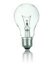Light Bulb. On white background stock photos