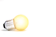 Light bulb On a white background Royalty Free Stock Photos
