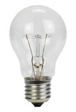 Light bulb on a white background Stock Photos