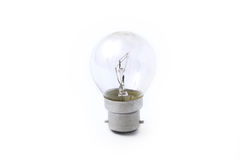 Light Bulb on a White Background Stock Photography