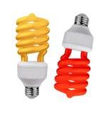 Light bulb on white background Royalty Free Stock Images