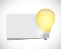 Light bulb and white banner space illustration Royalty Free Stock Image
