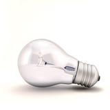 Light bulb on white Royalty Free Stock Image