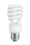Light bulb on white Stock Images
