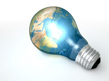 Light Bulb World Globe Stock Photo