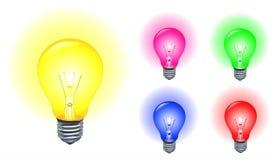Light bulbs. Illustration set of colorful light bulbs Royalty Free Stock Photography