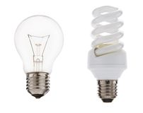 Light bulbs. Isolated over white background Royalty Free Stock Photo
