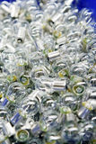 Light bulbs. Plenty of light bulbs with blurred background Royalty Free Stock Photo