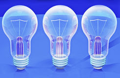 Light bulbs 3d royalty free stock photo