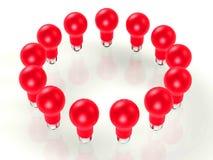 Light bulbs 3d royalty free illustration